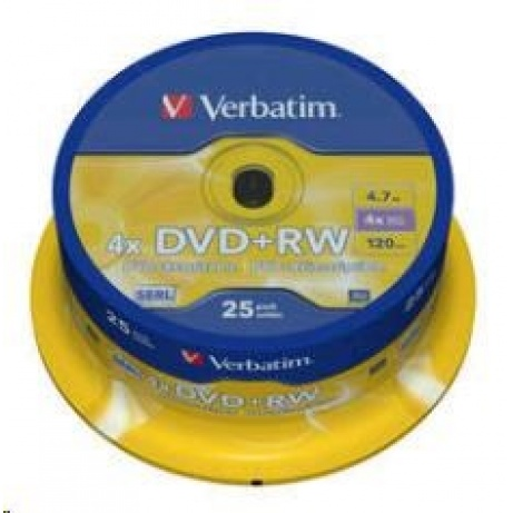 VERBATIM DVD+RW(25-Pack)Spindle/4x/DLP/4.7GB