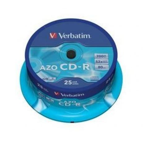 VERBATIM CD-R(25-Pack)Spindle/Crystal/DLP/52x/700MB