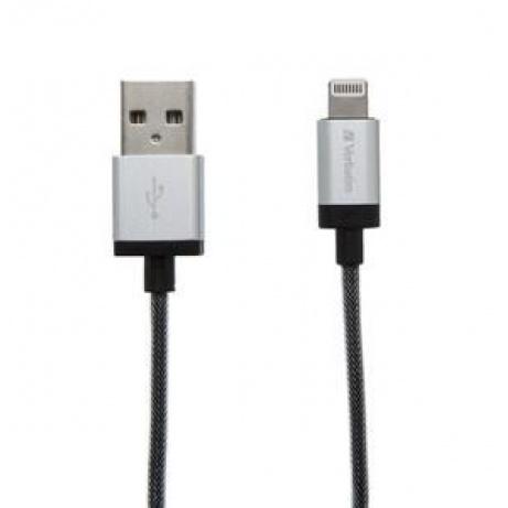 VERBATIM kabel Lightning Sync & Charge Cable 30cm (Silver)