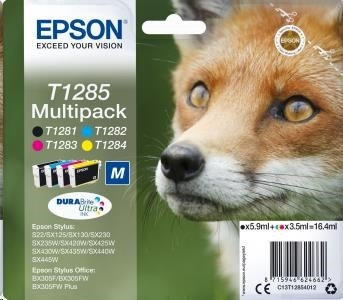 EPSON ink Multipack 4-colours T1285 DURABrite Ultra Ink blistr