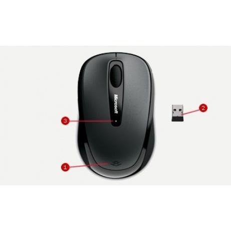 Microsoft myš L2 Wireless Mobile Mouse 3500 Mac/Win USB Black
