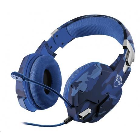 Trust sluchátka s mikrofonem GXT 322B Carus Gaming Headset for PS4 - camo blue