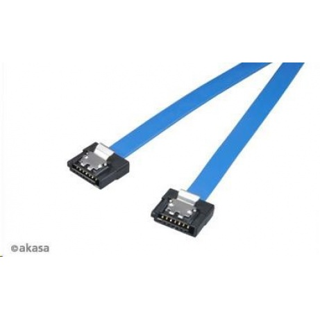 AKASA Kabel  Super slim SATA3 datový kabel k HDD,SSD a optickým mechanikám, modrý, 50cm
