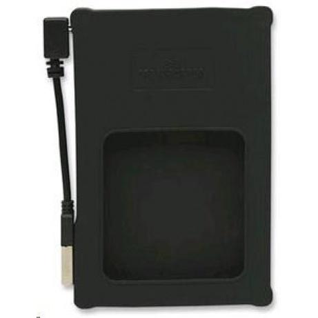 """MANHATTAN USB 2.0 2,5"""" SATA silikonový box na externí HDD, černý"""