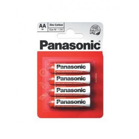 PANASONIC Zinkouhlíkové baterie Red Zinc R6RZ/4BP EU AA 1,5V (Blistr 4ks)