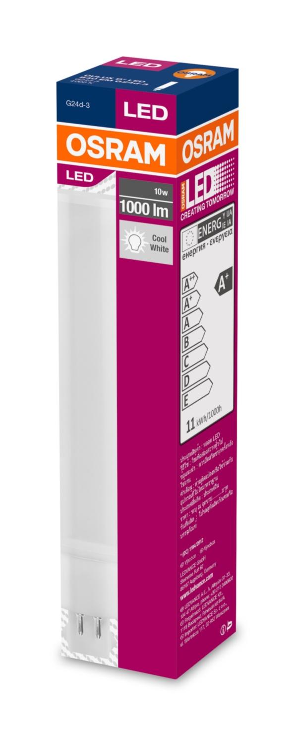 OSRAM LED DULUX D   230V 10W 840 G24q-3 noDIM A+ Plast matný 0lm 4000K 30000h (krabička 1ks)