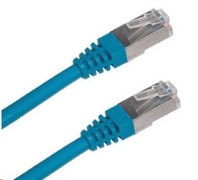 Patch kabel Cat5E, FTP - 1m, modrý