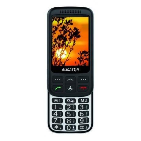 Aligator VS900 Senior, černá-stříbrná + nabíjecí stojánek