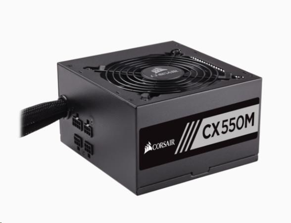 CORSAIR zdroj, CX550M (550W) semi-modulární 80+ Bronze