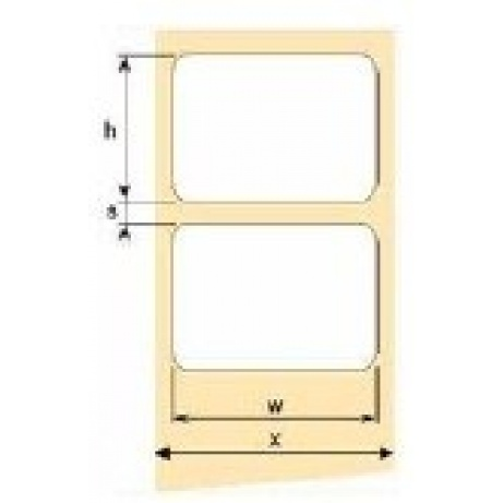 OEM samolepící etikety 32mm x 16mm, bílý papír, cena za 5000 ks