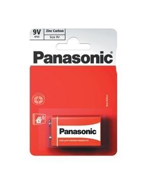 PANASONIC Zinkouhlíkové baterie - Red Zinc - blistr 9V balení - 1ks