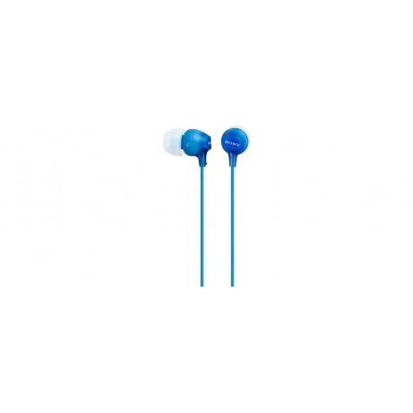 SONY stereo sluchátka MDR-EX15LP, modrá