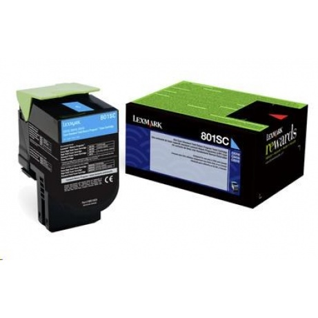 LEXMARK Cyan toner 802SC pro CX310/410/510 z programu Lexmark Return (2 000 stran)