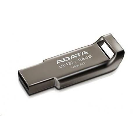 ADATA Flash Disk 64GB USB 3.1 DashDrive UV131, Chromium Grey, kovový