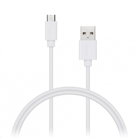 CONNECT IT Wirez micro USB - USB, bílý, 1m