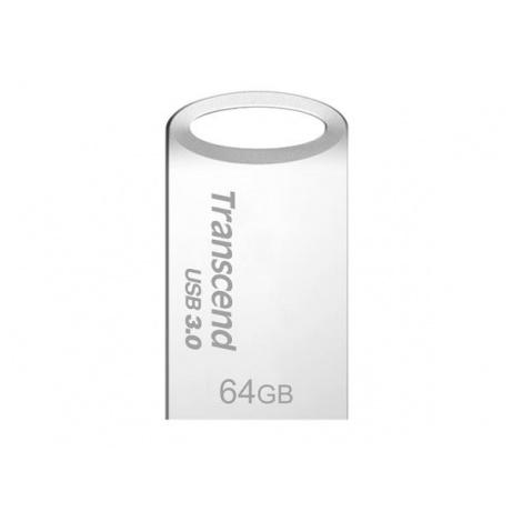 TRANSCEND USB Flash Disk JetFlash®710S, 64GB, USB 3.0, Silver (R/W 90/24 MB/s)