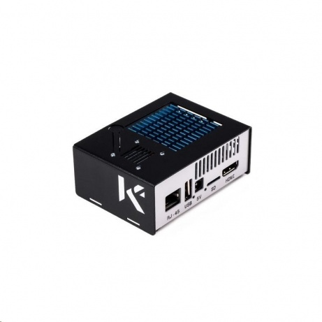 KKSB krabička pro Odroid XU4Q + větrák, černá+bílá