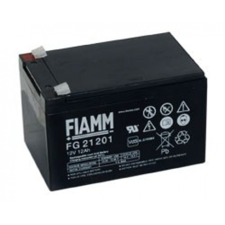 Baterie - Fiamm FG21201 (12V/12,0Ah - Faston 187), životnost 5let