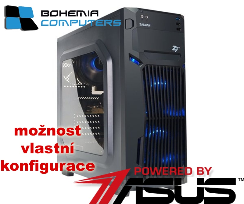 BOHEMIAPC - ASUS herní RYZEN 3 4X3.1GHZ/8GB DDR4/1TB HDD/GTX1050 4GB/ POWERED BY ASUS - BCR31200GTX10504G