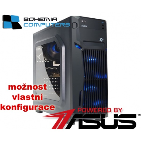 BOHEMIAPC - ASUS herní RYZEN 3 4X3.1GHZ/8GB DDR4/1TB HDD/GTX1050 4GB/ POWERED BY ASUS - BCR31200GTX10504G