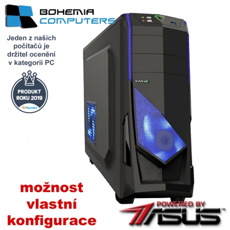 BOHEMIAPC - výkonný HERNÍ RYZEN 3 4X3.9GHZ/ 8GB DDR4/ 480GB SSD + 1TB/ RX580 8GB DDR5  - POWERED BY ASUS - BCR33100480SSD1TRX580