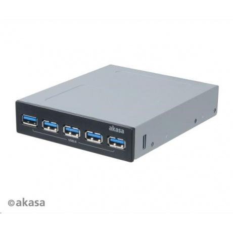 "AKASA HUB USB InterConnect Pro 5S, do 3,5"" pozice, 5x USB 3.0"