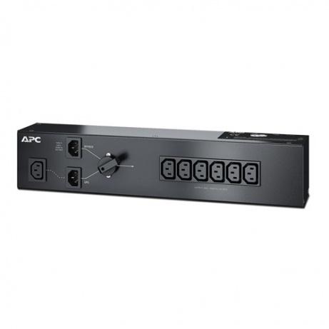 APC Service Bypass Panel 230V 10A BBM IEC C14 input; (6) IEC C13 output
