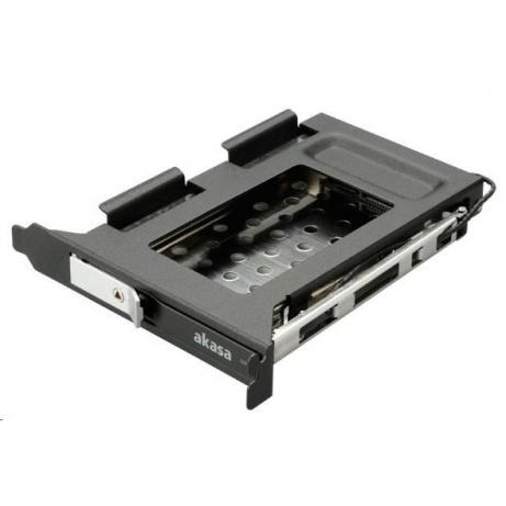 """AKASA HDD box Lokstor M23, 2,5"""" SATA HDD/SSD do interní PCI pozice, černý"""