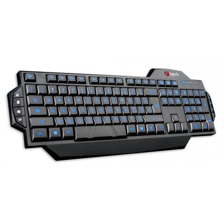 C-TECH klávesnice KORE, herní, modré podsvícení, USB, CZ/SK