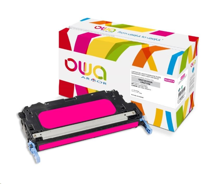 OWA Armor toner pro HP Color Laserjet 3600, 4000 Stran, Q6473A, červená/magenta