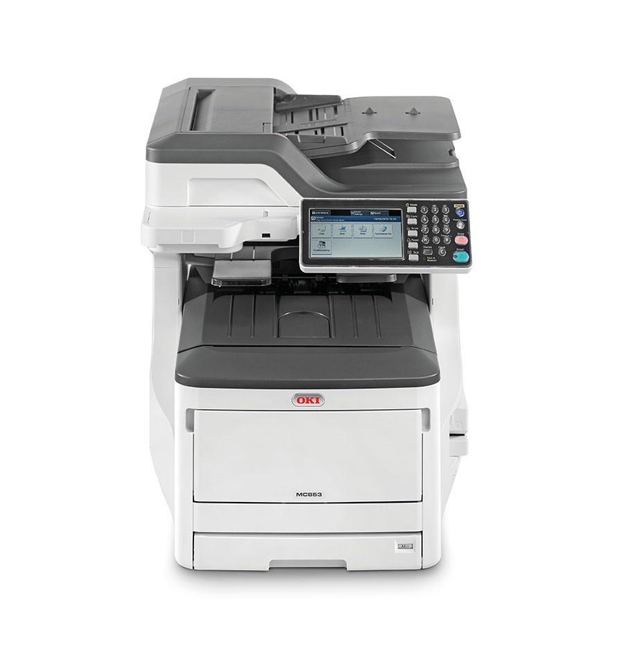 Oki MC853dn A3 23 ppm ProQ2400DPI, PCL/PS,USB,LAN (Print/Scan/Copy/Fax), 250GB HDD