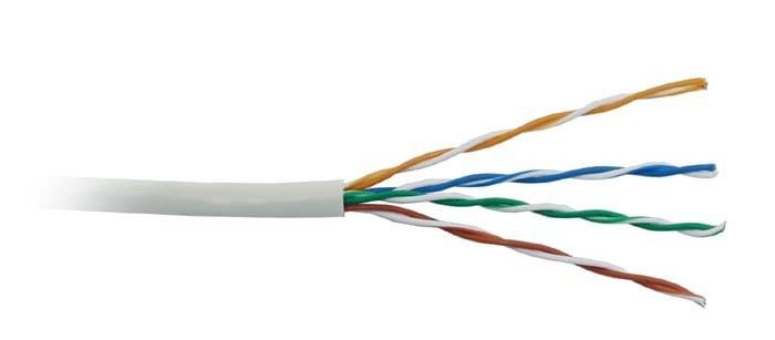 UTP kabel LYNX, Cat5E, licna, PVC, šedá, 305m box