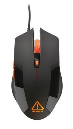CANYON optická herní myš, nastavitelné DPI 800/1200/1600/2400, LED podsvícení, černá - CND-SGM2