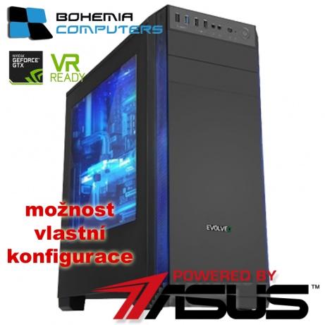 BOHEMIAPC - ASUS herní INTEL Kaby Lake i5 4X3.5GHZ/8GB DDR4/1TB HDD/RX 570 4GB/ POWERED BY ASUS - BCi57400RX5704g