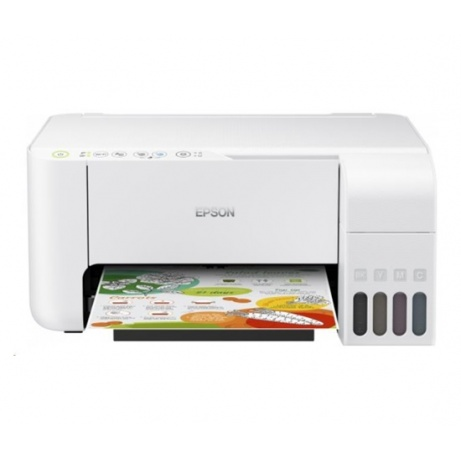EPSON tiskárna ink EcoTank L3156, 3v1, A4, 1440x5760dpi, 33ppm, USB, Wi-Fi, Wi-Fi Direct, Bílá, 3 roky záruka po reg. - C11CG86413