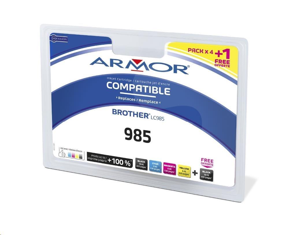 ARMOR cartridge pro BROTHER DCP-J125, 2BK+1C+1M+1Y
