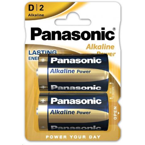 PANASONIC Alkalické baterie Alkaline Power LR20APB/2BP AA 1,5V (Blistr 2ks)