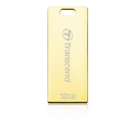 TRANSCEND Flash Disk 32GB JetFlash®T3G, USB 2.0 (odolný vůči prachu, vodě i nárazu) (R:19/W:7 MB/s) zlatá