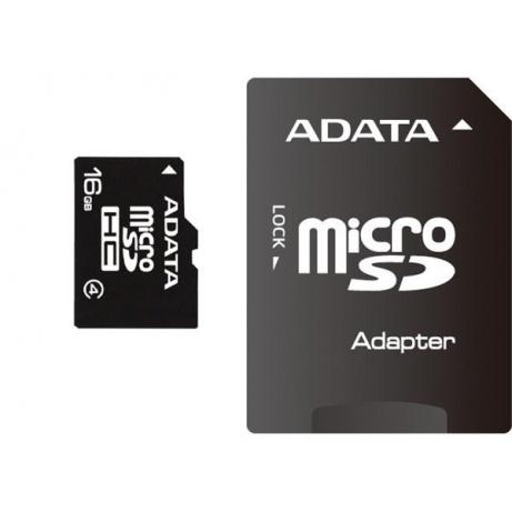 ADATA Micro SDHC karta 16GB Class 4 + SD adaptér