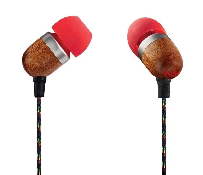 MARLEY Smile Jamaica - Fire, sluchátka do uší s ovladačem a mikrofonem