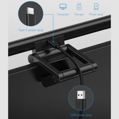 Baseus i-Wok Series závěsné světlo na monitor, černá