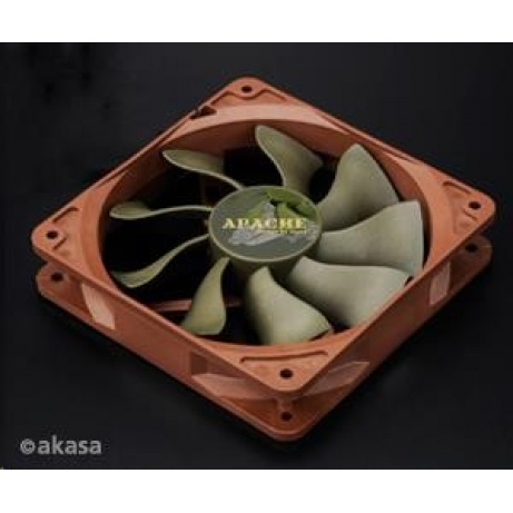 AKASA ventilátor APACHE, 120 x 25mm, PWM regulace, extra výkonný a tichý, HDB ložisko, IP54