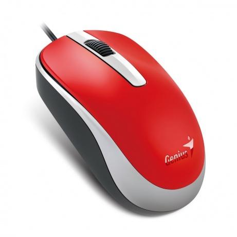 GENIUS myš DX-120, drátová, 1200 dpi, USB, červená
