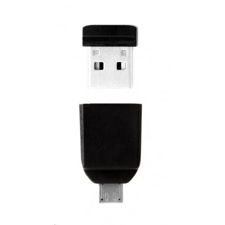 VERBATIM Flash Disk NANO 32 GB Store'n'Stay + micro USB OTG adaptér USB 2.0 černý