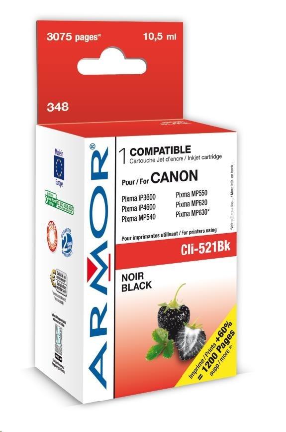 ARMOR cartridge pro CANON iP 3600/4600 Black s čipem (CLI521BK)