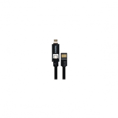 REMAX datový kabel 2 v 1 , Micro USB + lighting iPhon 5/6 1,2 m dlouhý, černá barva Univerzal