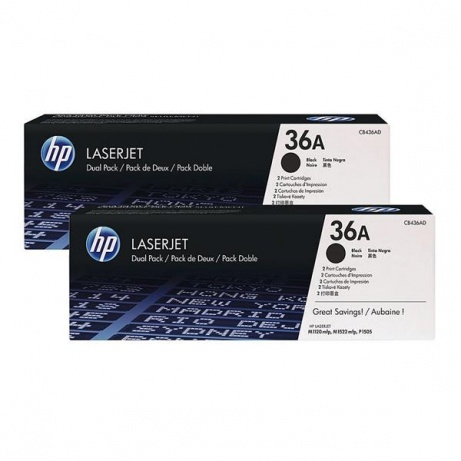 HP 36A Black 2-pack LJ Toner Cart, 2 x 2 000 str, CB436AD