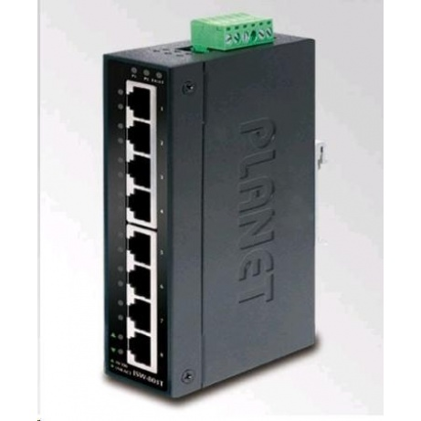 Planet switch IGS-801T, průmysl.verze 8x10/100/1000, DIN, IP30, -40 až 75°C, 12-48V
