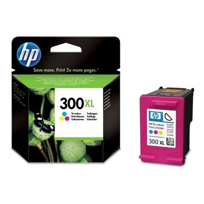 HP 300XL Tri-color Ink Cart, 11 ml, CC644EE