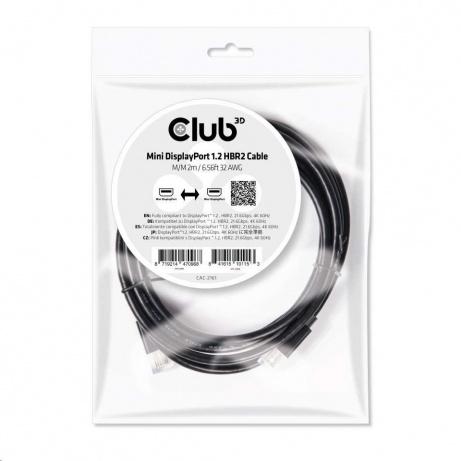 Club3D Kabel mini DisplayPort 1.2 4K60Hz UHD HBR2 (M/M), 2m